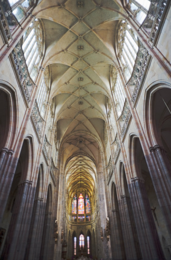 St Vitus's Cathedral「Vaulted gothic ceiling of Saint Vitus Cathedral in Prague」:スマホ壁紙(2)