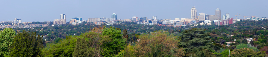 Postmodern「Large Sandton Cityscape Panorama」:スマホ壁紙(9)