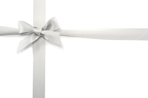Tied Knot「Silver Gift Ribbon & Bow」:スマホ壁紙(1)