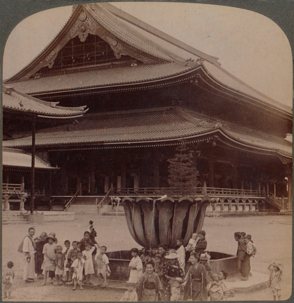 Buddhism「'Higashi Hongwanji, Largest Buddhist Temple In Japan Just Rebuilt, Kyoto', 1904.」:写真・画像(13)[壁紙.com]