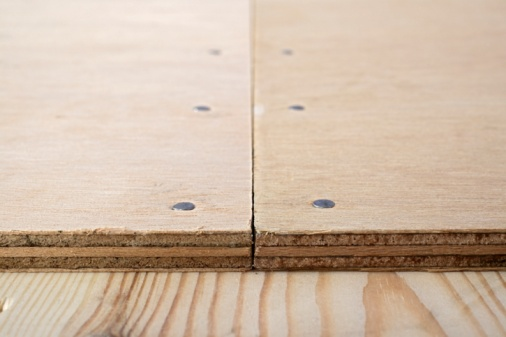 Durability「Butt joint on plywood nailed to wooden floor, close-up」:スマホ壁紙(6)