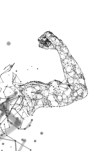 Bicep「Muscle network portrait white」:スマホ壁紙(4)