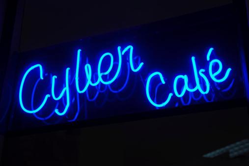 Cyber-「Cyber cafe sign」:スマホ壁紙(12)