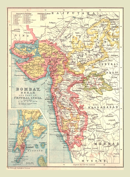 Physical Geography「Map Of Bombay」:写真・画像(9)[壁紙.com]