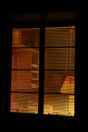 Blinds「Looking Into The Home Office At Night」:スマホ壁紙(5)