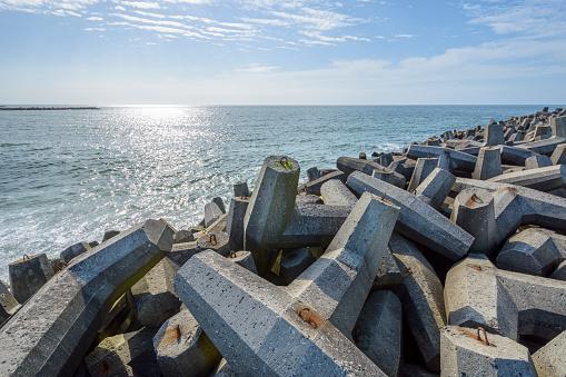 Groyne「Concrete Breakwater at Coast」:スマホ壁紙(4)