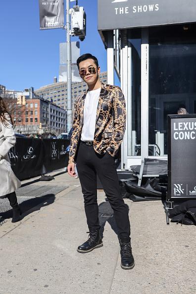 Achim Aaron Harding「Street Style - New York Fashion Week February 2019 - Day 3」:写真・画像(13)[壁紙.com]
