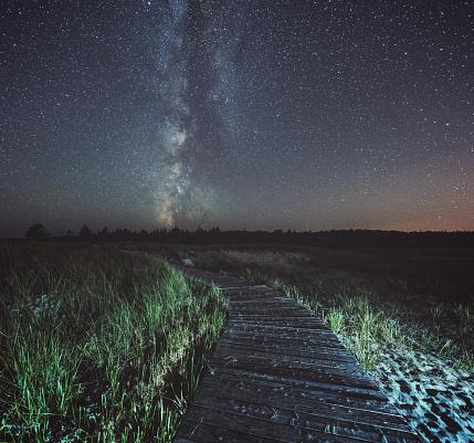 星空「Milky Way ボードウォーク」:スマホ壁紙(19)