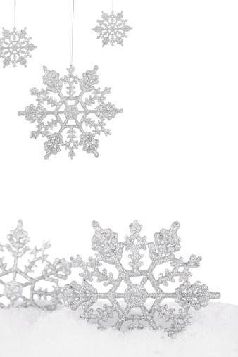 ラメグリッター「シルバーの雪の結晶」:スマホ壁紙(12)