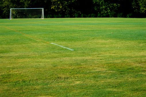 Goal Post「Soccer Goal and Soccer Net on Soccer Field during Soccer Game」:スマホ壁紙(11)
