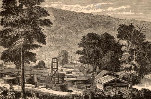 1870-1879「Oil wells on Hyde and Egbert's Farm in Pennsylvania」:スマホ壁紙(15)