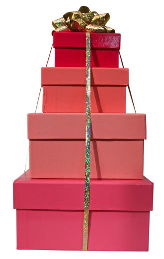プレゼント「ピンクのボックスに 4 つのリボン」:スマホ壁紙(15)