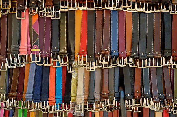Hanging colorful leather belts:スマホ壁紙(壁紙.com)