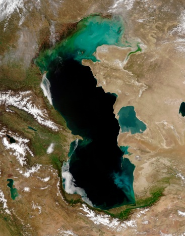 "Iran「""Caspian Sea, satellite image""」:スマホ壁紙(1)"