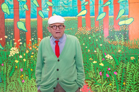 ヒューマンインタレスト「Artist David Hockney Unveils 'The Arrival of Spring' At Centre Georges Pompidou In Paris」:写真・画像(13)[壁紙.com]