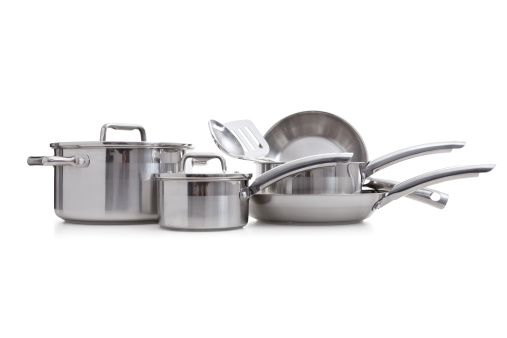 Kitchen Utensil「Stainless steel pots and pans」:スマホ壁紙(5)