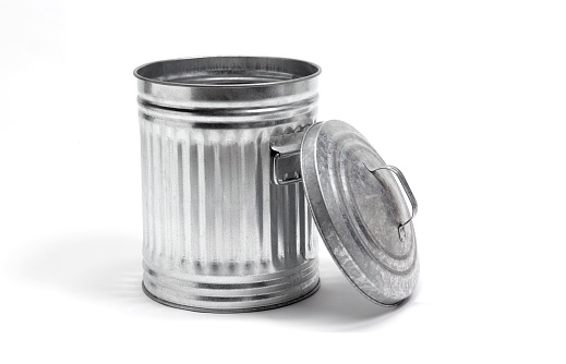 Metallic「Metal dustbin lid off」:スマホ壁紙(8)