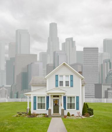 Contrasts「Rural House in Urban Setting」:スマホ壁紙(9)
