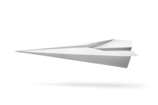 Shadow「Office: Paper Airplane Isolated on White Background」:スマホ壁紙(2)