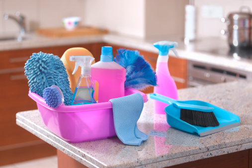 Focus On Foreground「Spring cleaning equipment in kitchen」:スマホ壁紙(14)