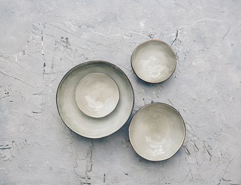 Bowl「Ceramic bowls on a textured background」:スマホ壁紙(10)