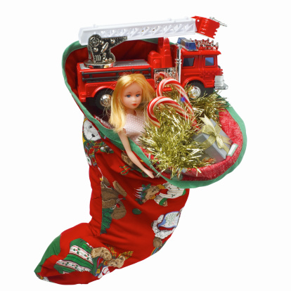 Doll「Close up view of a Christmas stocking with gifts」:スマホ壁紙(13)