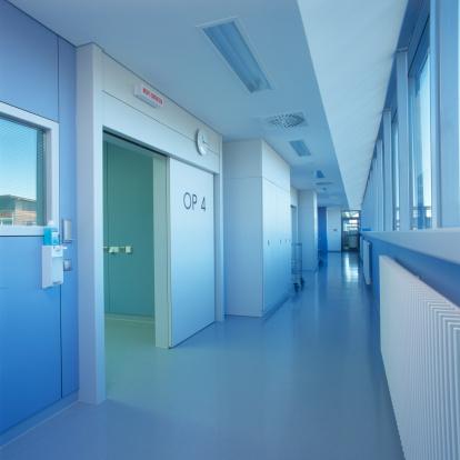 Ceiling「Blue clean hospital floor」:スマホ壁紙(9)