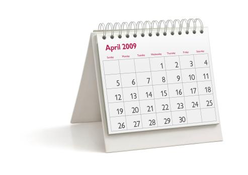 April「Desktop Calendar: April 2009」:スマホ壁紙(19)