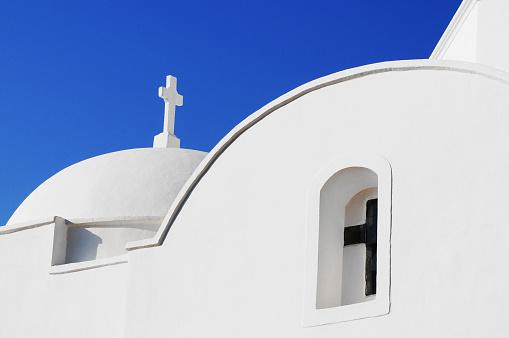 パトモス島「Church in a Greek village」:スマホ壁紙(3)