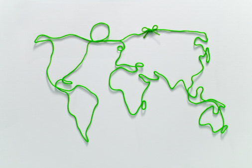 String「  World map  drawn by string」:スマホ壁紙(0)