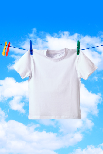 Clothesline「T shirt with copy space」:スマホ壁紙(16)