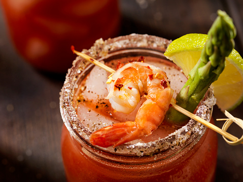Prawn - Seafood「Shrimp Bloody Mary or Caesar Cocktail」:スマホ壁紙(17)