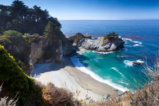 Big Sur「McWay Waterfall with small cove」:スマホ壁紙(14)