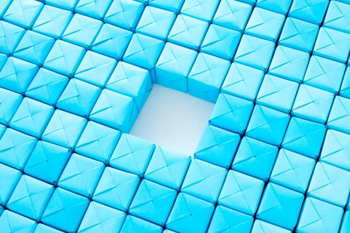 Origami「Missing cubes」:スマホ壁紙(9)