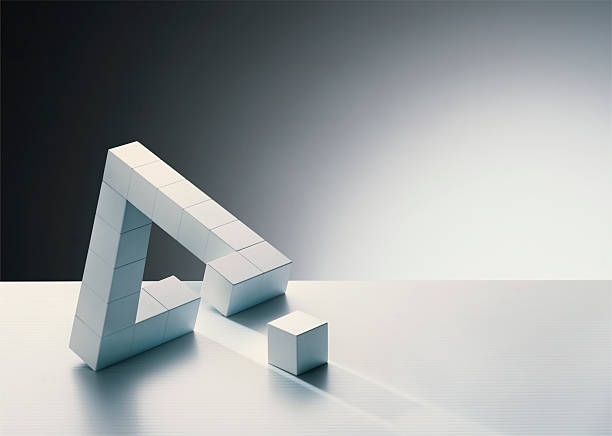 Missing cube in triangle formation:スマホ壁紙(壁紙.com)