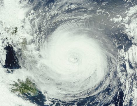 Typhoon「Typhoon Chaba, south of Japan, 29th august, 2004 (satellite view)」:スマホ壁紙(14)