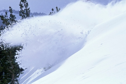 スノーボード「Snowboarder in powder, Mt. Rose, Nevada, USA」:スマホ壁紙(4)