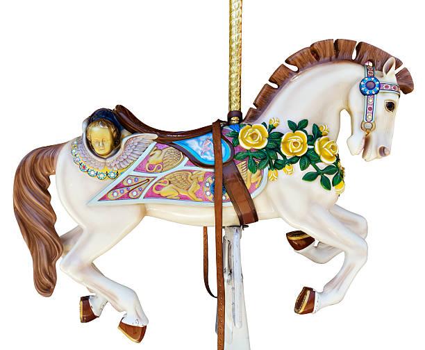Carousel horse with yellow roses:スマホ壁紙(壁紙.com)