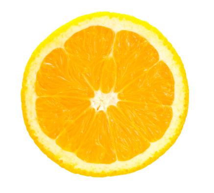 High Key「sliced juicy citrus orange isolated against white」:スマホ壁紙(19)