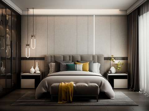 Ottoman Stool「Modern Style Bedroom」:スマホ壁紙(17)