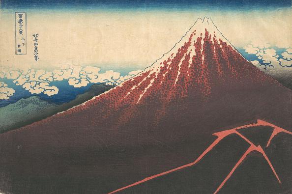 Volcanic Landscape「Storm Below Mount Fuji (Sanka No Haku U)」:写真・画像(10)[壁紙.com]