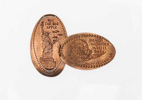米国硬貨「New York smashed pennies souvenir」:スマホ壁紙(11)