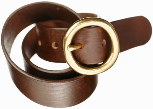 Belt「Brown Leather Belt on white」:スマホ壁紙(8)