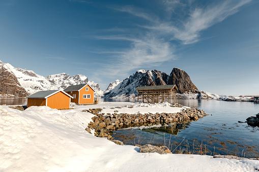 ノルウェー「レーヌ - ノルウェー北部のロフォーテン諸島湾」:スマホ壁紙(11)