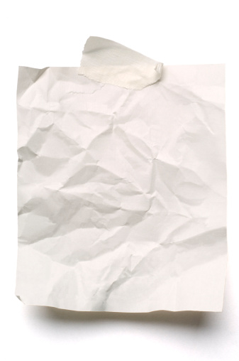 Adhesive Note「White crumpled note paper isolated」:スマホ壁紙(6)