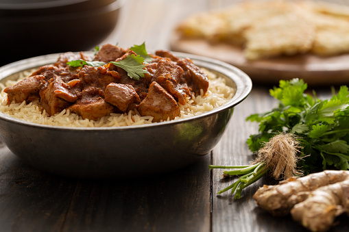 Basmati Rice「Indian Food Chicken Vindaloo Curry over Basmati Rice」:スマホ壁紙(3)