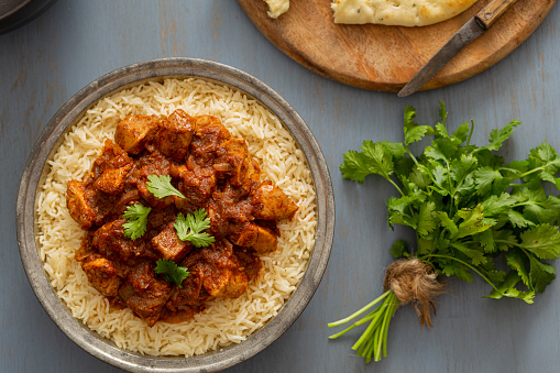 Basmati Rice「Indian Food Chicken Vindaloo Curry over Basmati Rice」:スマホ壁紙(9)