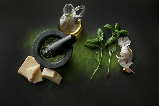 Garlic Clove「Seasoning: Pesto and Ingredients Still Life」:スマホ壁紙(9)
