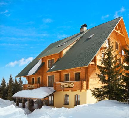 Snowdrift「wood house on winter glade」:スマホ壁紙(2)