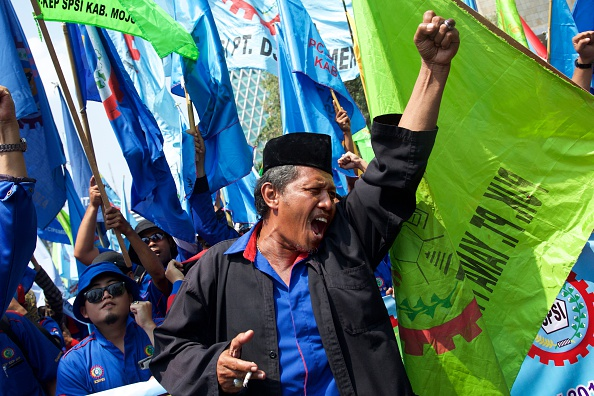 Ed Wray「Indonesian Workers Protest Rising Costs And Unemployment」:写真・画像(9)[壁紙.com]